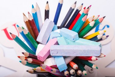 Colorful school stationary