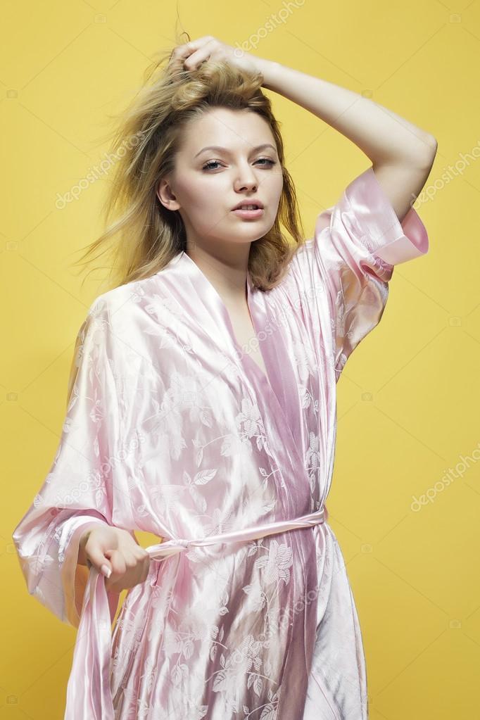 Beautiful Dressing Gowns. Fabulous Portrait Of Beautiful Woman In ...