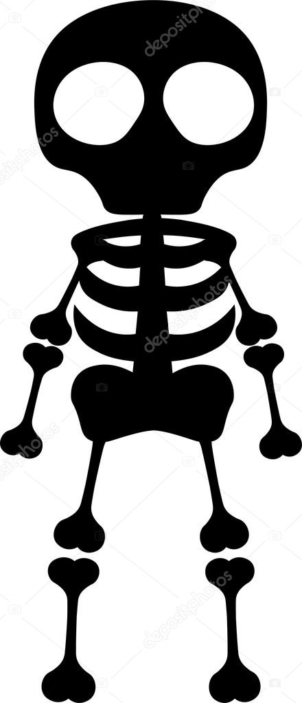 Vector: esqueleto | Ilustración de longitud completa de silueta de ...