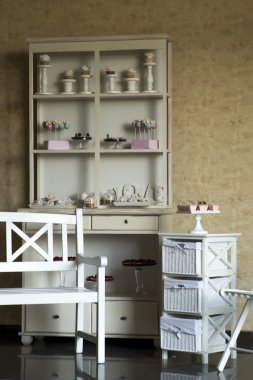 Vintage furniture with sweets
