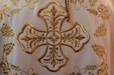 Christian cross embroidery