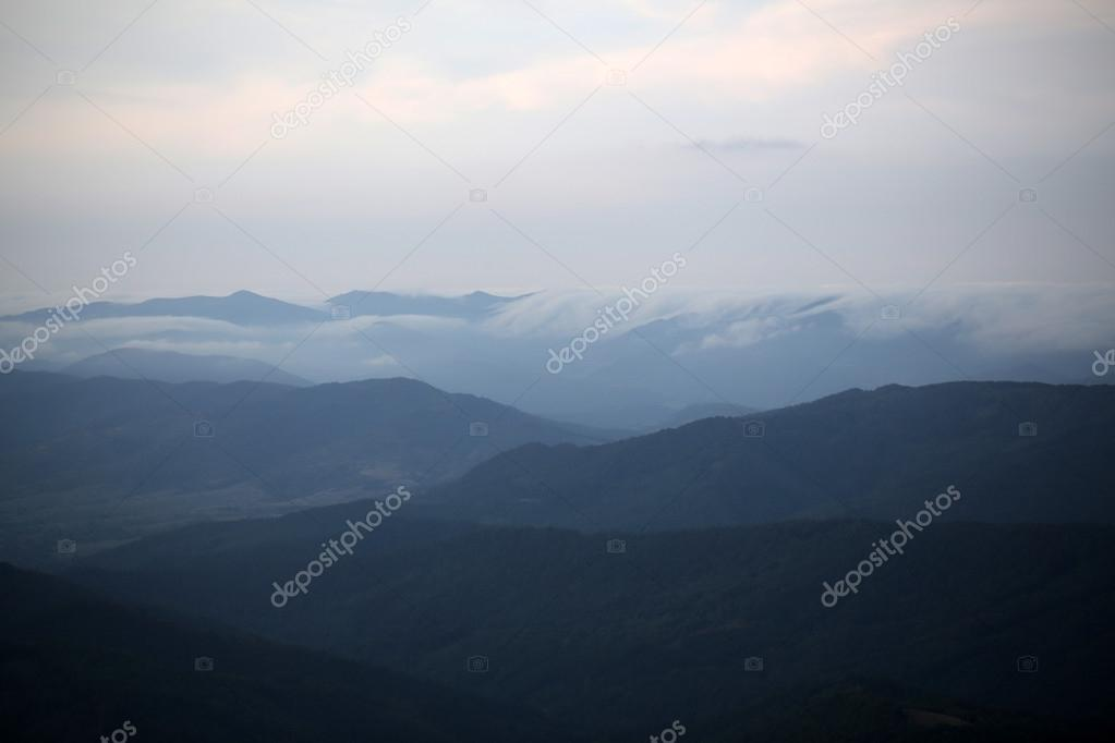 Mountains and sky