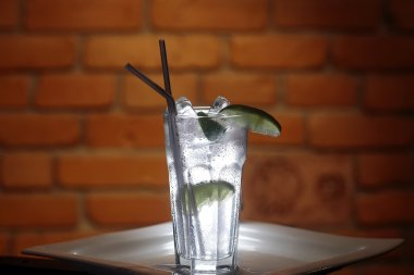 Cold limpid cocktail