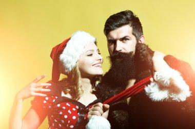 Christmas couple in studio
