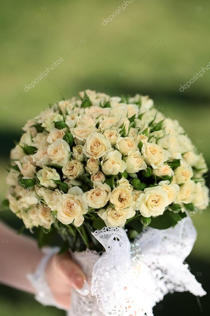 Wedding flowers in hand
