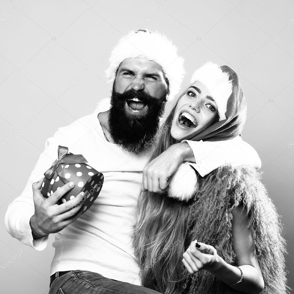 happy new year couple stock photo