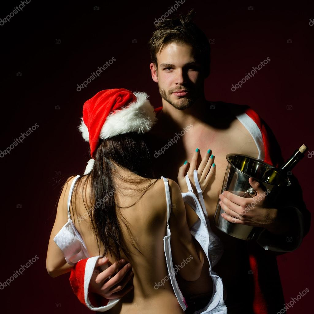 New year sexy couple