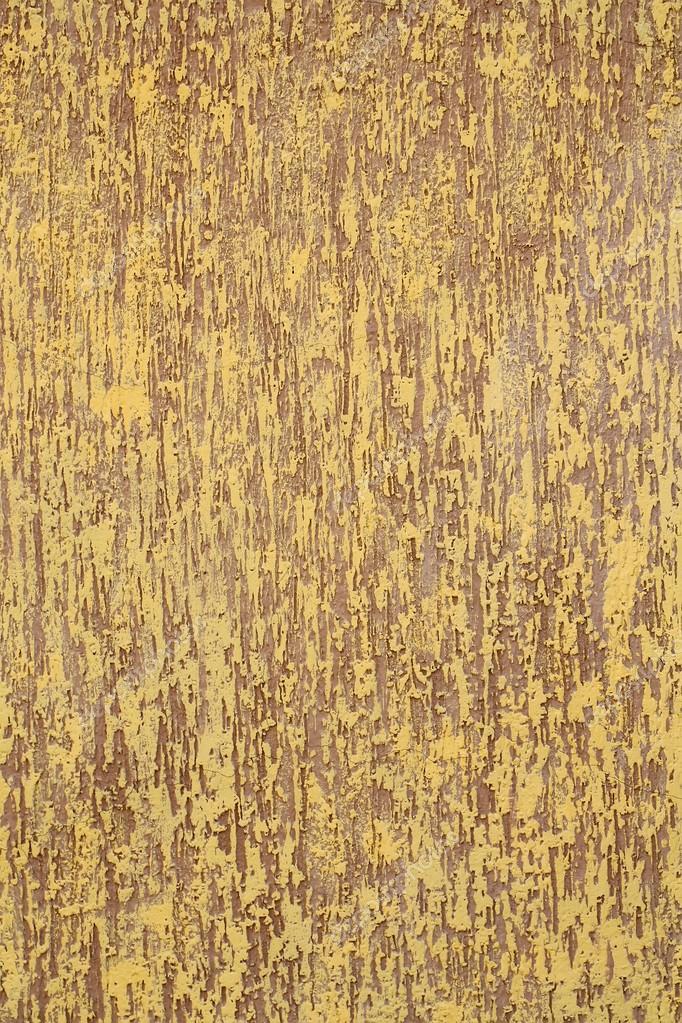 Foto Closeup Warm Verputzt Braun Gelb Lackiert Farbige Mauer Rau  Texturierte Dekorativer Stuck Fassade Interieur Auf Hintergrund, Hochformat  U2014 Foto Von ...