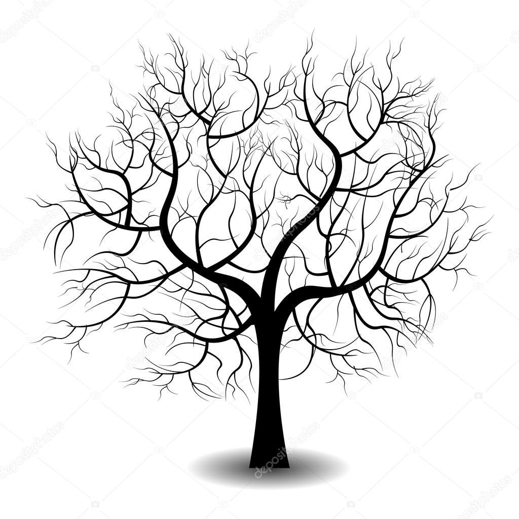 Ein Kahler Baum — Stockvektor © Tverdohlib.com #97067188