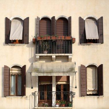 Beige plastered facade