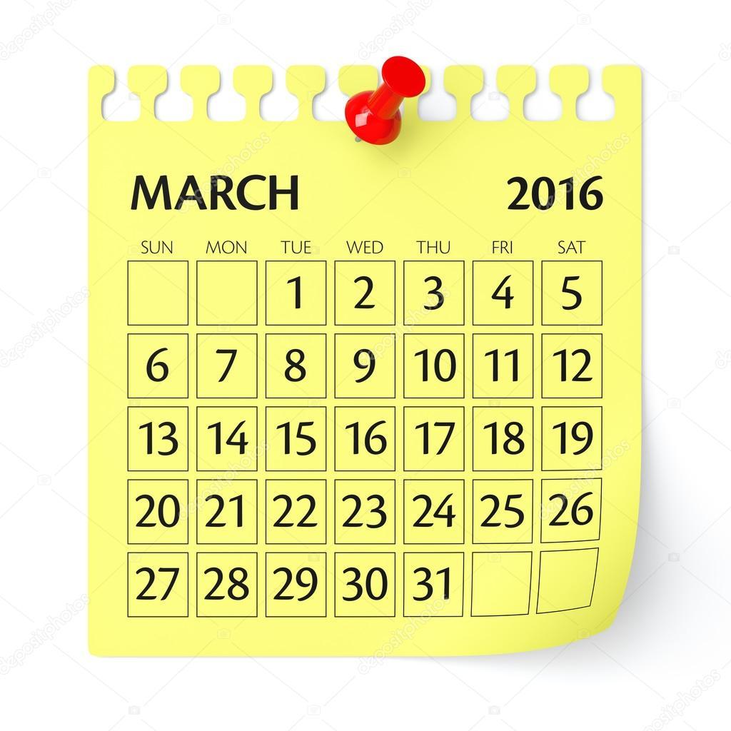 2016 март картинки год на календарь