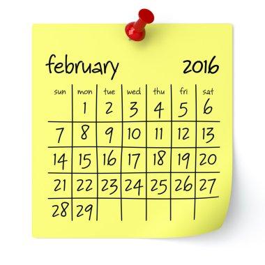 February 2016 - Calendar