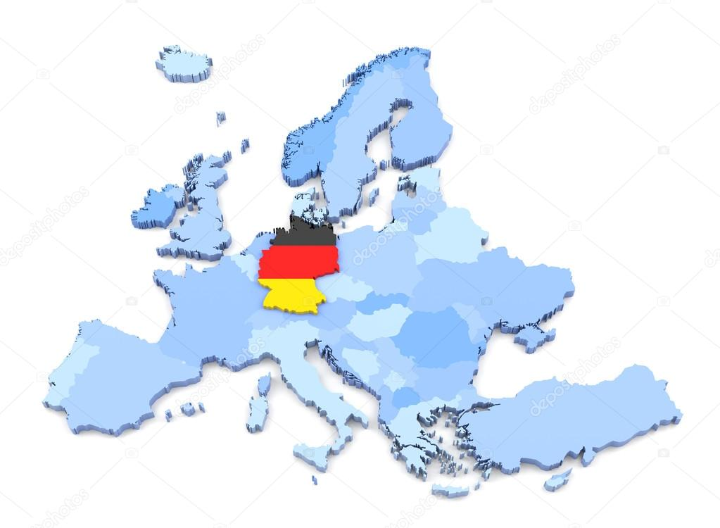 Europe Map Germany With Flag Stock Photo C Klenger 90697162