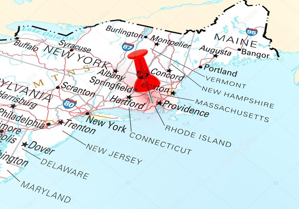 Rhode Island Map — Stock Photo © klenger #99069086