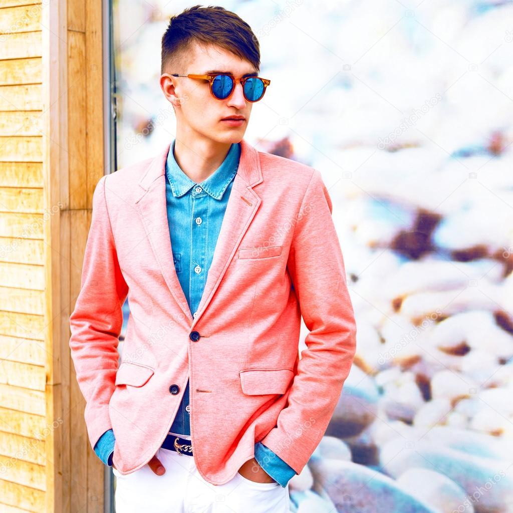 chico guapo hipster — Foto de stock © AnnHaritonenko #75377433
