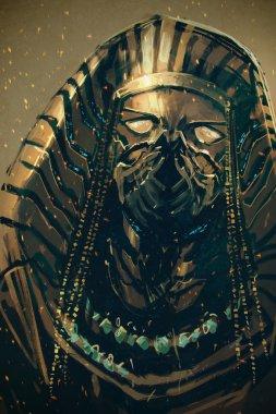 """Картина, постер, плакат, фотообои """"фараон египта, научно-фантастическая концепция фото фотографий примеры модульные"""", артикул 103303518"""