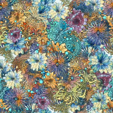 seamless floral pattern,beautiful wallpaper with colorful flowers