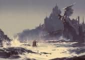 Fotografie temná fantasy hrad