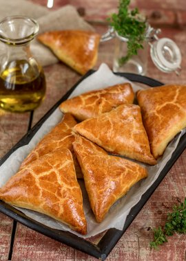 Meat pies samosas with ground beef