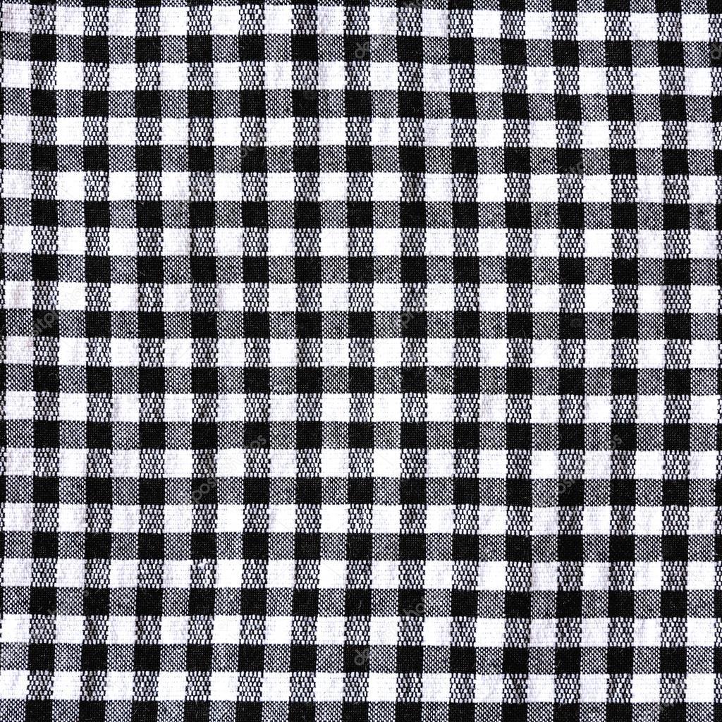 Schwarz / weiß karierten Tischdecke Textur — Stockfoto © jpkirakun ...