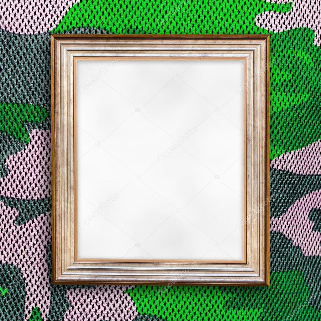 Leere Bilderrahmen auf Camouflage-Muster — Stockfoto © jpkirakun ...