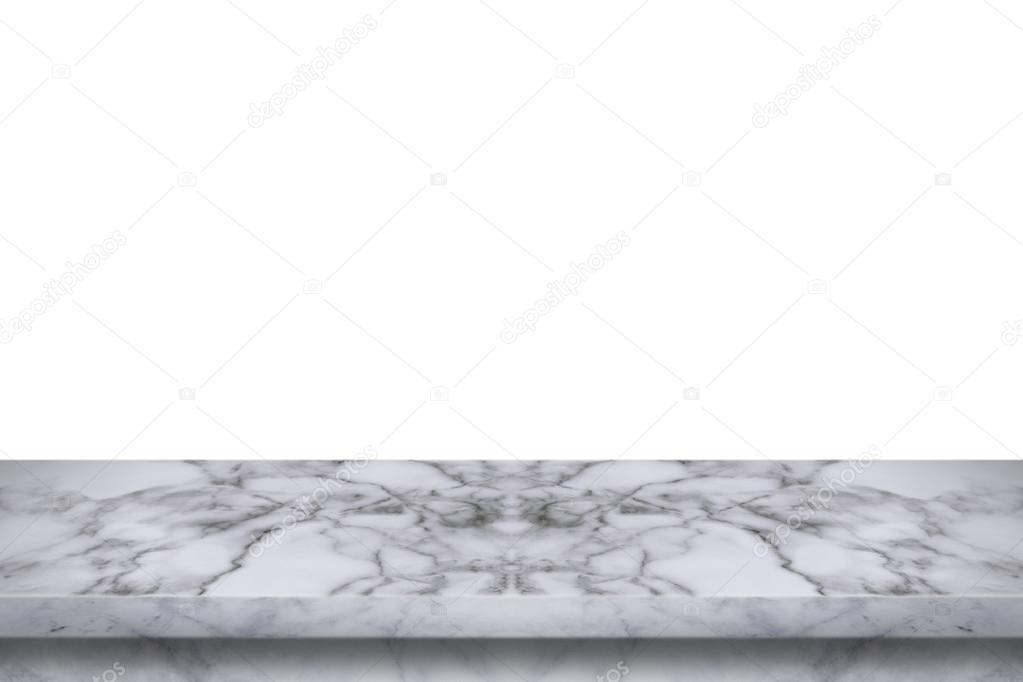 Mesa m rmol vac a aislada sobre fondo blanco foto de for Fondo marmol blanco