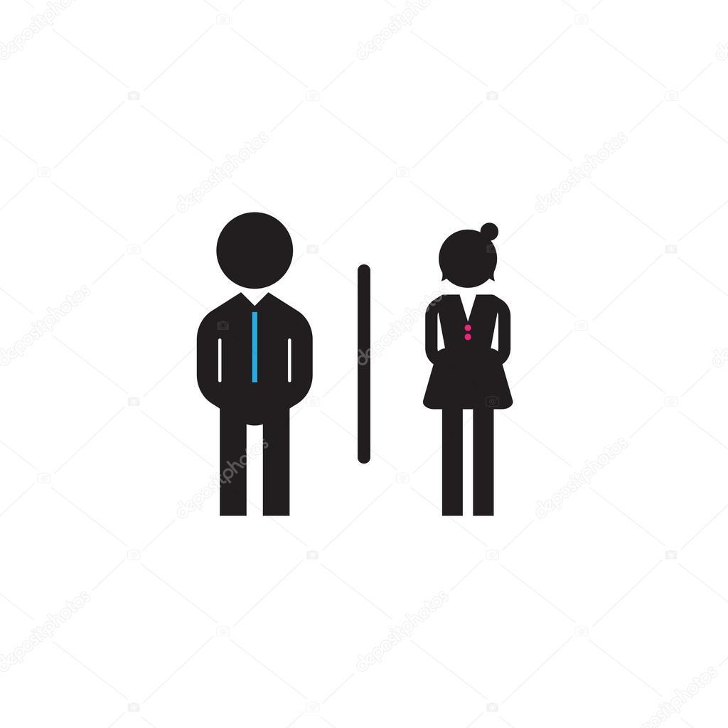 Vector Iconos Baños Hombre Mujer Baños Hombres Y Mujeres Símbolo