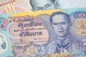 närbild på thailändska pengar