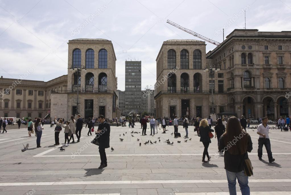 View Of Piazza Diaz Skyscraper And Museo Del 900 Stock