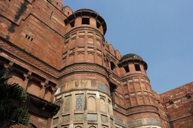 Agra Red Fort, India. Architectural detail