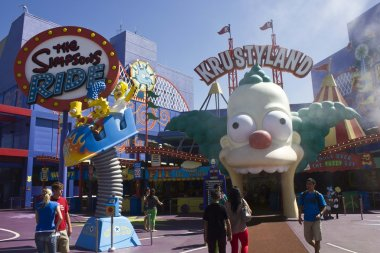 The Simpson Ride experience at Universal Studios