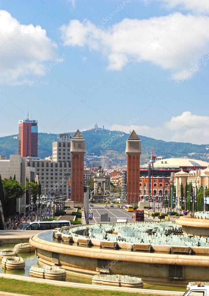 Barcellona spagna 12 agosto vista panoramica di for Agosto a barcellona