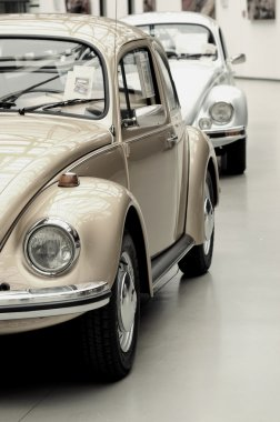 Fragment of beautiful stylish old cars. Vintage style.