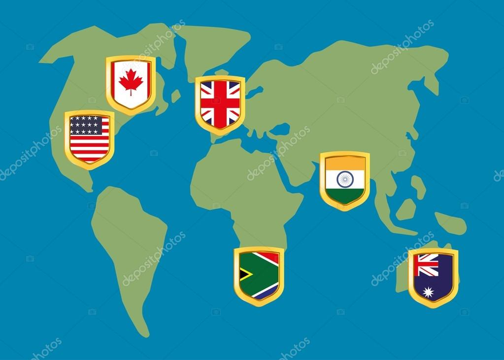 English speaking countries on the map stock vector sashazerg english speaking countries on the map stock vector gumiabroncs Gallery
