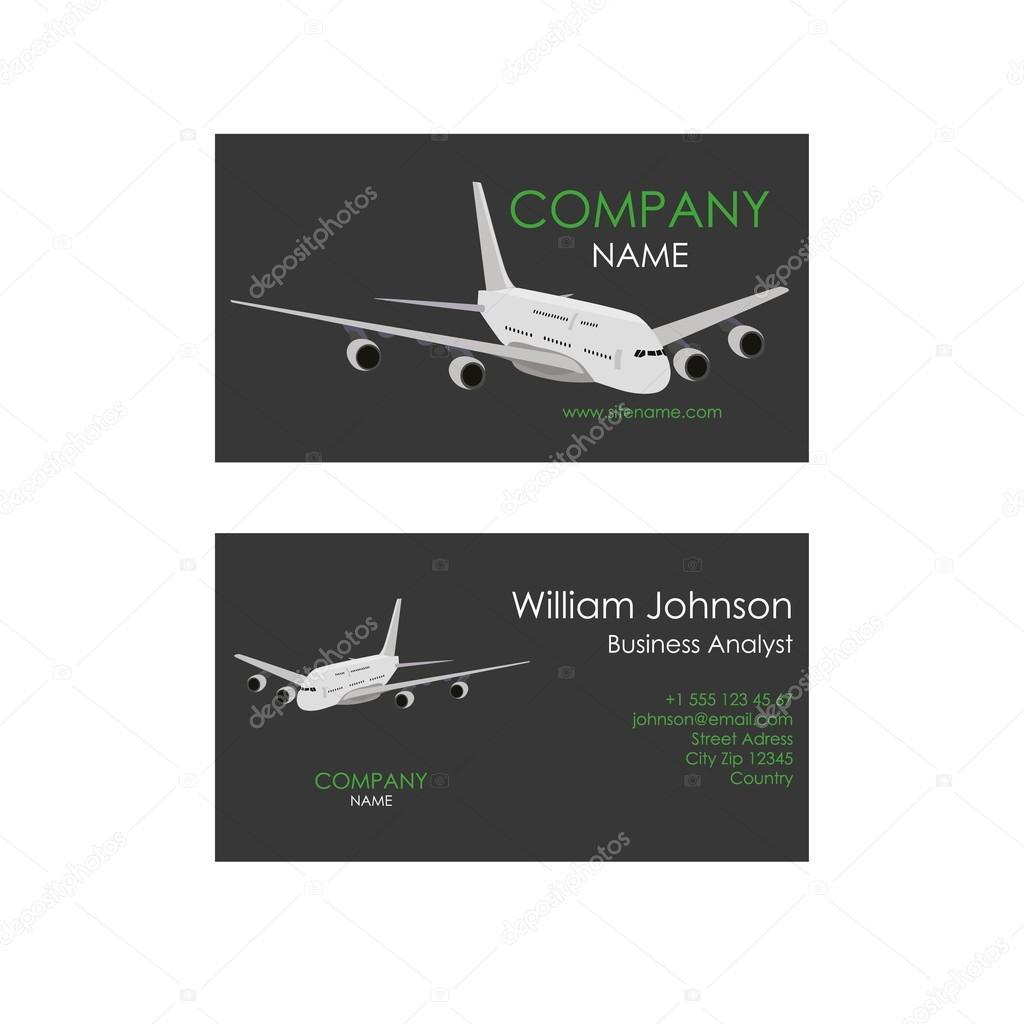 Carte De Visite Pour Le Vol Avion Illustration Stock