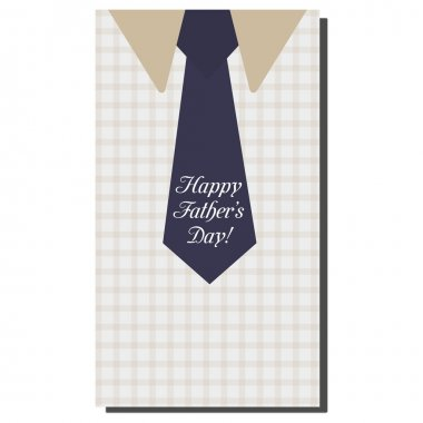 Happy Fathers Day, holiday card with tie