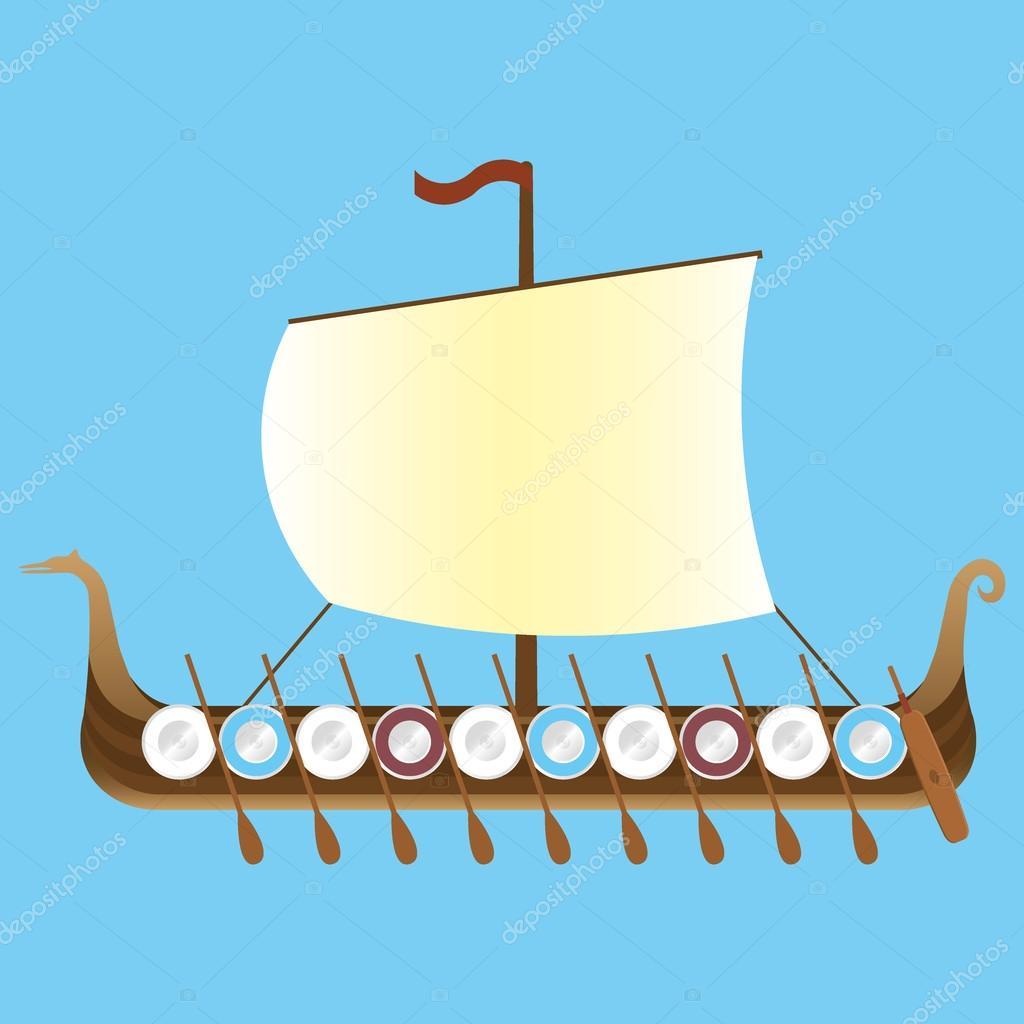 Drakkar viking long ship