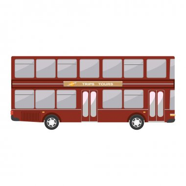 Double decker english modern bus