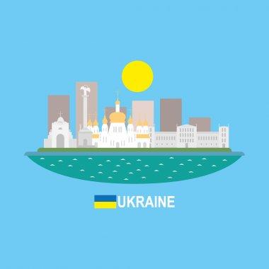 Ukraine famous buildingds infographic