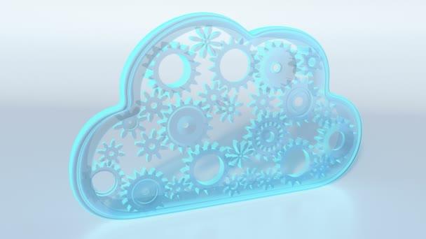 Cloud computing theme loop - 3D render
