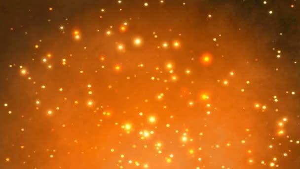 csillogó bokeh részecske háttér - varrat nélküli videóinak hurok. 3D render