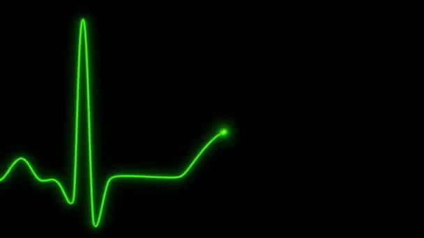 bezešvé křivka EKG smyčky - neon symbolu - vj