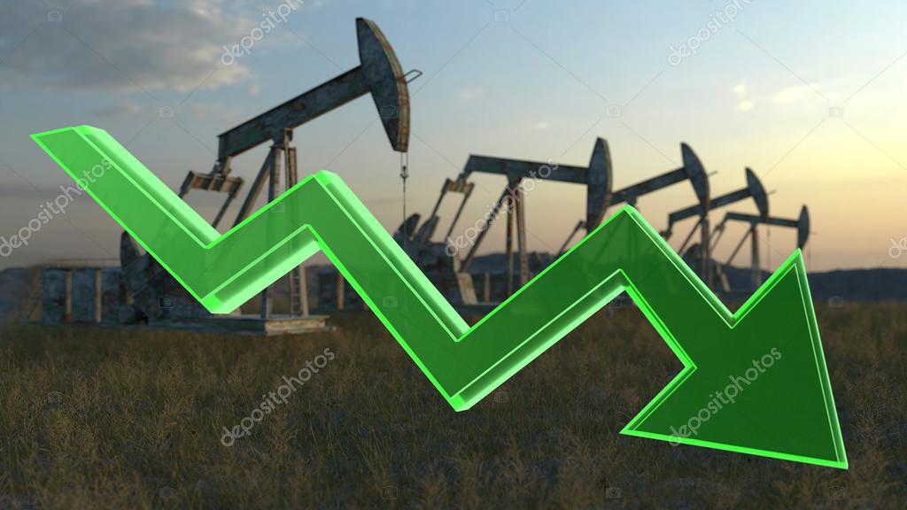 oil decrease concept
