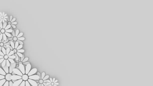 Fondo Floral Con Lugar Para El Texto De La Boda Vídeo De Stock