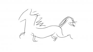 Outline of a running horse