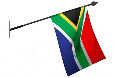 South African Flag Hanging