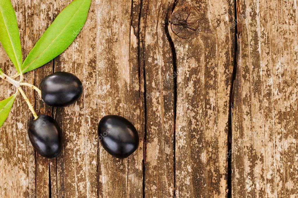 three black olives