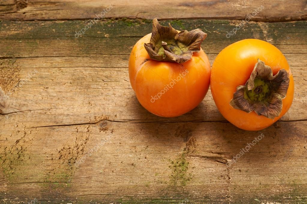 two delicious persimmons