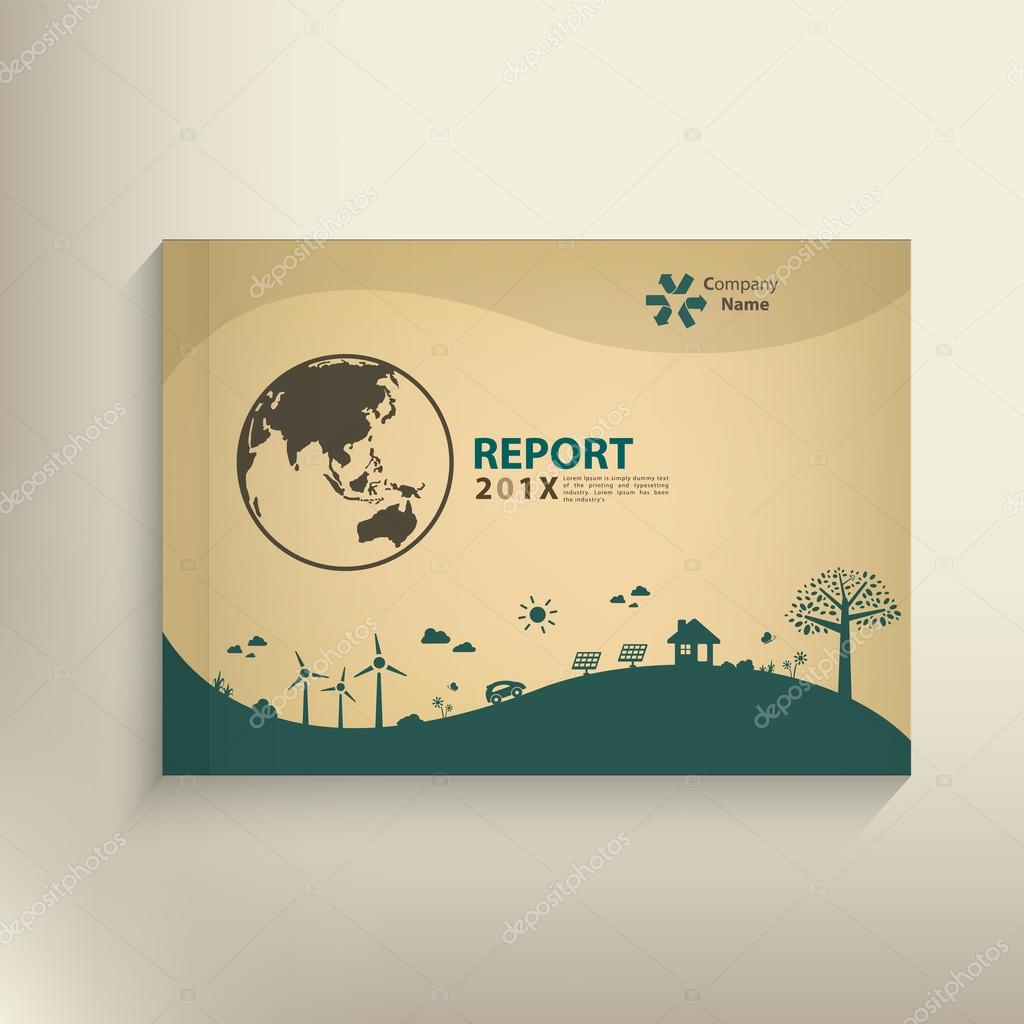 Save the world vector CSR report Cover design for GO green conce