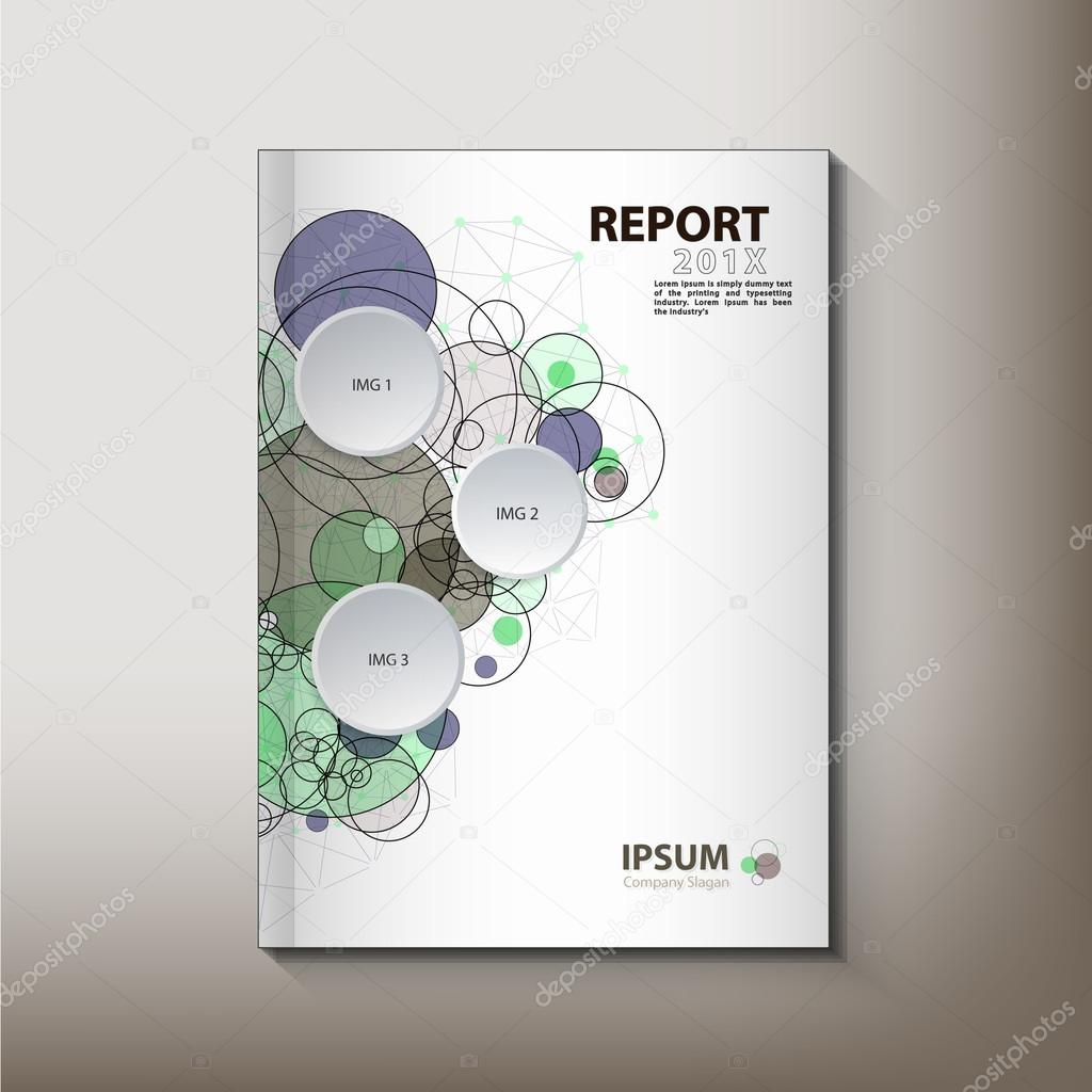 modern annual report cover design vector concept ストックベクター